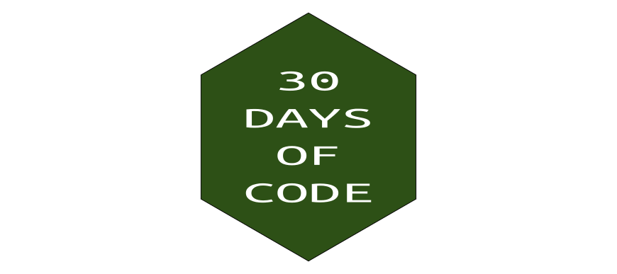 30 days of code on hackerrank